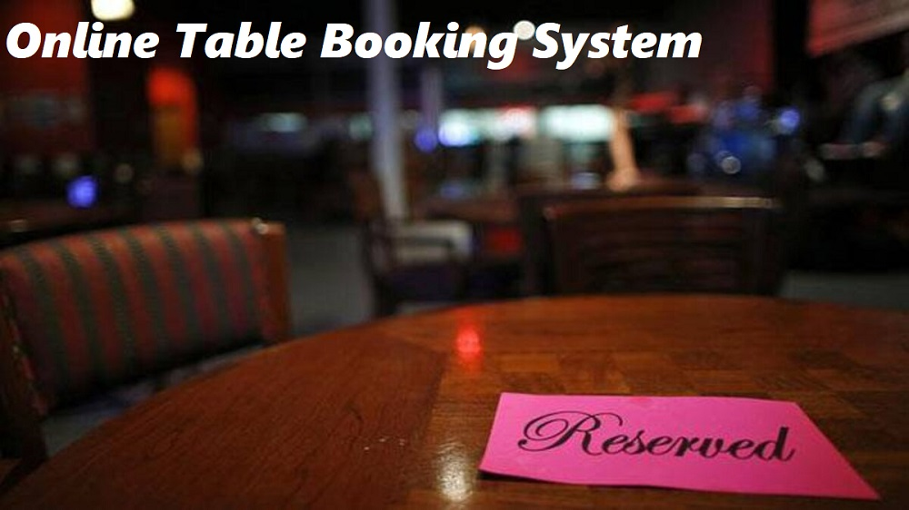 Online Table Booking System Cherry Berry RMS