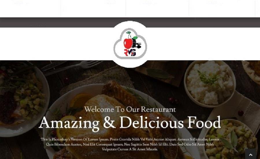 Website for Restaurant Online Ordering Cherry Berry RMS